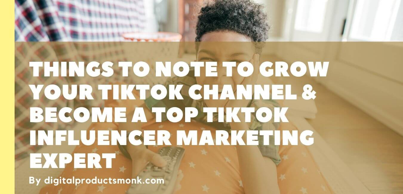Things To Note To Grow Your Tiktok Channel & Become A Top TikTok Influencer Marketing Expert
